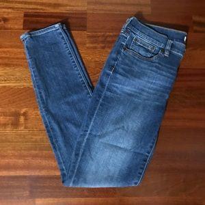 J. Crew Blue Stretch Straight Leg Jeans